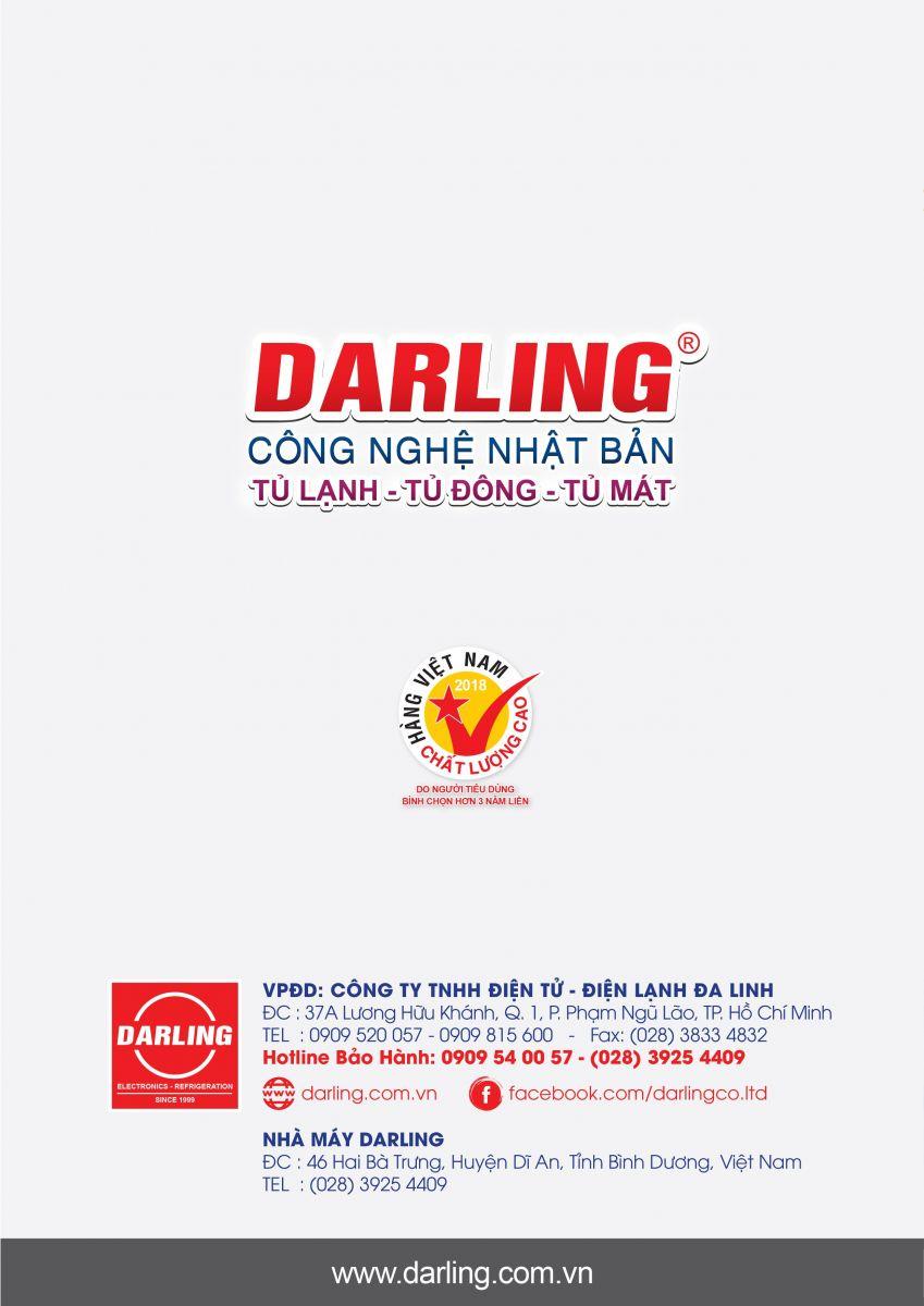 Catalogue tủ đông Darling