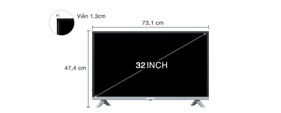 kích thước tivi
